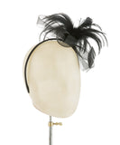 Basically Black - fascinator designed by Rent The Races - Rent The Races  - 2