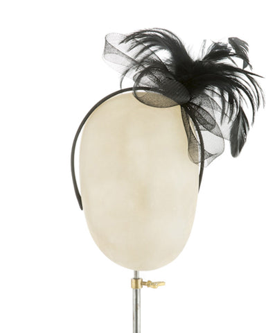 Basically Black - fascinator designed by Rent The Races - Rent The Races  - 1