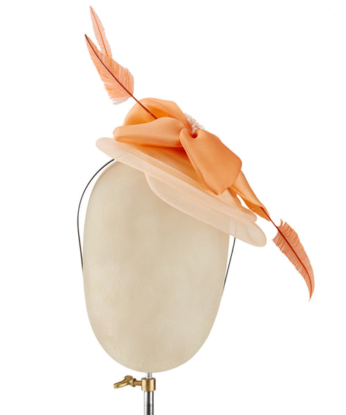 Creamsicle - fascinator designed by Couture Millinery - Rent The Races  - 1