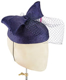 Navy Bow - fascinator designed by Christine Moore - Rent The Races  - 2