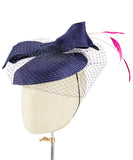 Navy Bow - fascinator designed by Christine Moore - Rent The Races  - 3
