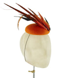 Tangerine Mohawk - fascinator designed by Edel Ramberg - Rent The Races  - 2