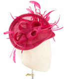Magenta Feathers - fascinator designed by Fine Feathers - Rent The Races  - 2