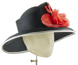 The Diana (Black) - hat designed by LD Carey Designs - Rent The Races  - 2