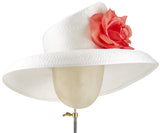 The Diana (White) - hat designed by LD Carey Designs - Rent The Races  - 1