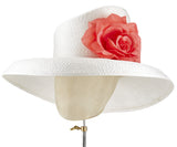 The Diana (White) - hat designed by LD Carey Designs - Rent The Races  - 2