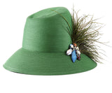 The Voss Derby II (Green) - hat designed by LD Carey Designs - Rent The Races  - 2