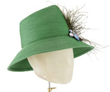 The Voss Derby II (Green) - hat designed by LD Carey Designs - Rent The Races  - 3