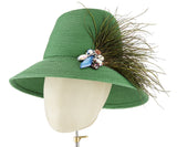 The Voss Derby II (Green) - hat designed by LD Carey Designs - Rent The Races  - 4