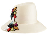 The Voss Derby (Cream) - hat designed by LD Carey Designs - Rent The Races  - 2