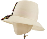 The Voss Derby (Cream) - hat designed by LD Carey Designs - Rent The Races  - 4