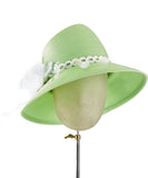 The Voss (Key Lime Green) - hat designed by LD Carey Designs - Rent The Races  - 1