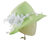 The Voss (Key Lime Green) - hat designed by LD Carey Designs - Rent The Races  - 2