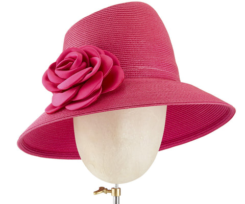 The Voss (Pink) - hat designed by LD Carey Designs - Rent The Races  - 1