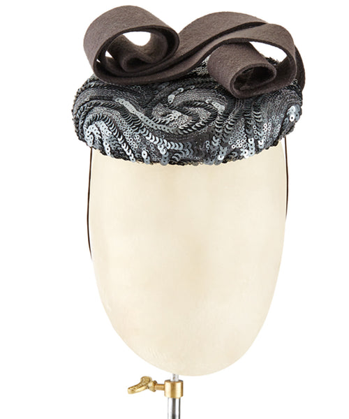 Sequin Button - fascinator designed by Lucy Gilmore Murphy - Rent The Races  - 1