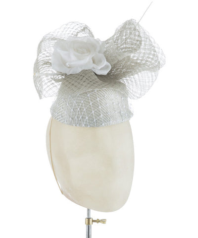 Le Greige - fascinator designed by Rent The Races  - Rent The Races  - 1