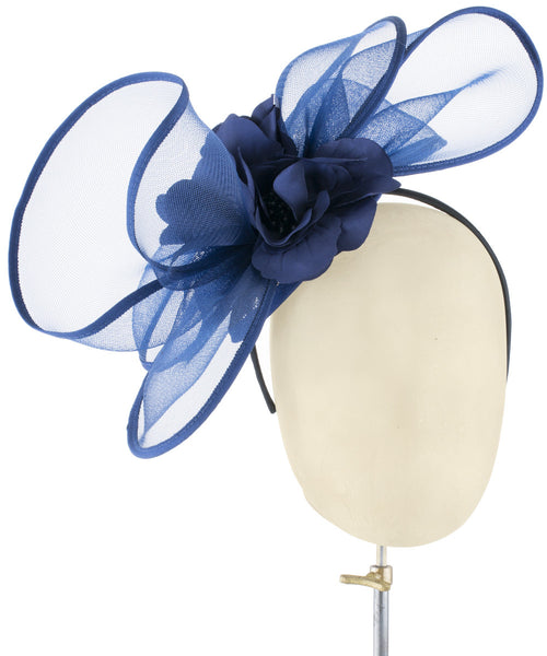 Navy Wave - fascinator designed by Dorfman Pacific - Rent The Races  - 1