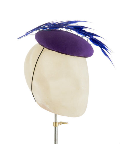 Pretty Peacock - fascinator designed by Mark T Burke - Rent The Races  - 1