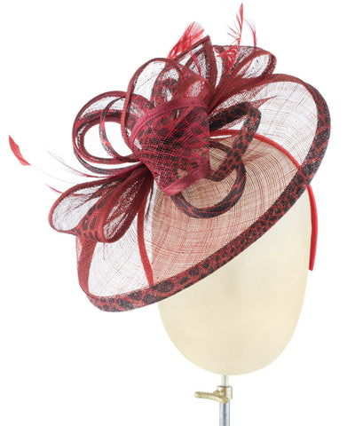 Red Leopard - fascinator designed by Dorfman Pacific - Rent The Races  - 1