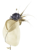 Gold Pillbox - fascinator designed by Sophie Hunter - Rent The Races  - 2