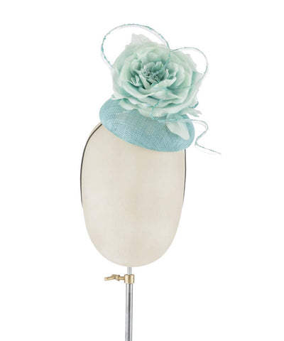 Aqua Fleur - fascinator designed by Rachel Black - Rent The Races  - 1