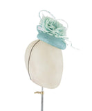 Aqua Fleur - fascinator designed by Rachel Black - Rent The Races  - 2
