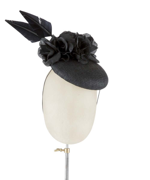 Black Widow - fascinator designed by Edel Ramberg - Rent The Races  - 1