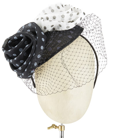 Polka Dot Roses - fascinator designed by unknown - Rent The Races  - 1