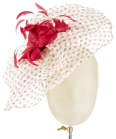 Polka Veil - fascinator designed by unknown - Rent The Races  - 1