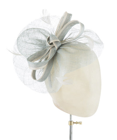 Soft Aqua Bow - fascinator designed by Rent The Races  - Rent The Races  - 1