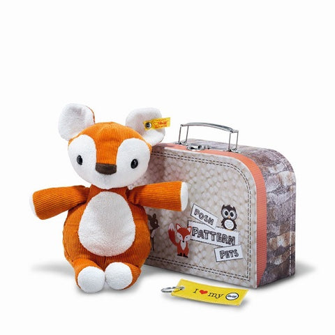 Phil fox in suitcase (Steiff Posh Pattern Pets)