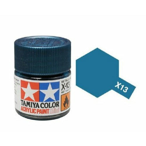 Tamiya 81513 X-13 Metallic Blue Acrylic Paint 10ml