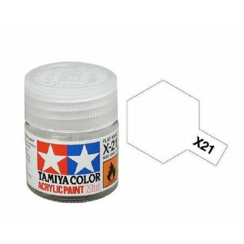 Tamiya 81521 X-21 Flat Base Acrylic Paint 10ml