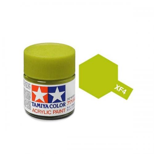 Tamiya 81704 XF-4 Flat Yellow Green Acrylic Paint 10ml
