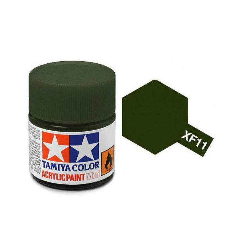 Tamiya 81711 XF-11 Flat Japanese Navy J.N. Green Acrylic Paint 10ml
