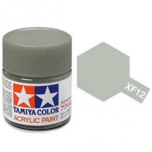 Tamiya 81712 XF-12 Flat JN Gray Grey Acrylic Paint 10ml