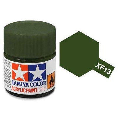 Tamiya 81713 XF-13 Flat Japanese Army J.A. Green Acrylic Paint 10ml
