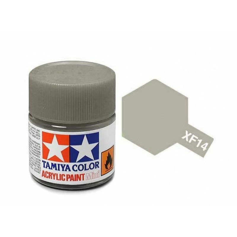 Tamiya 81714 XF-14 Flat Japanese Army J.A. Grey Gray Acrylic Paint 10ml