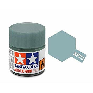 Tamiya 81723 XF-23 Flat Light Blue Acrylic Paint 10ml