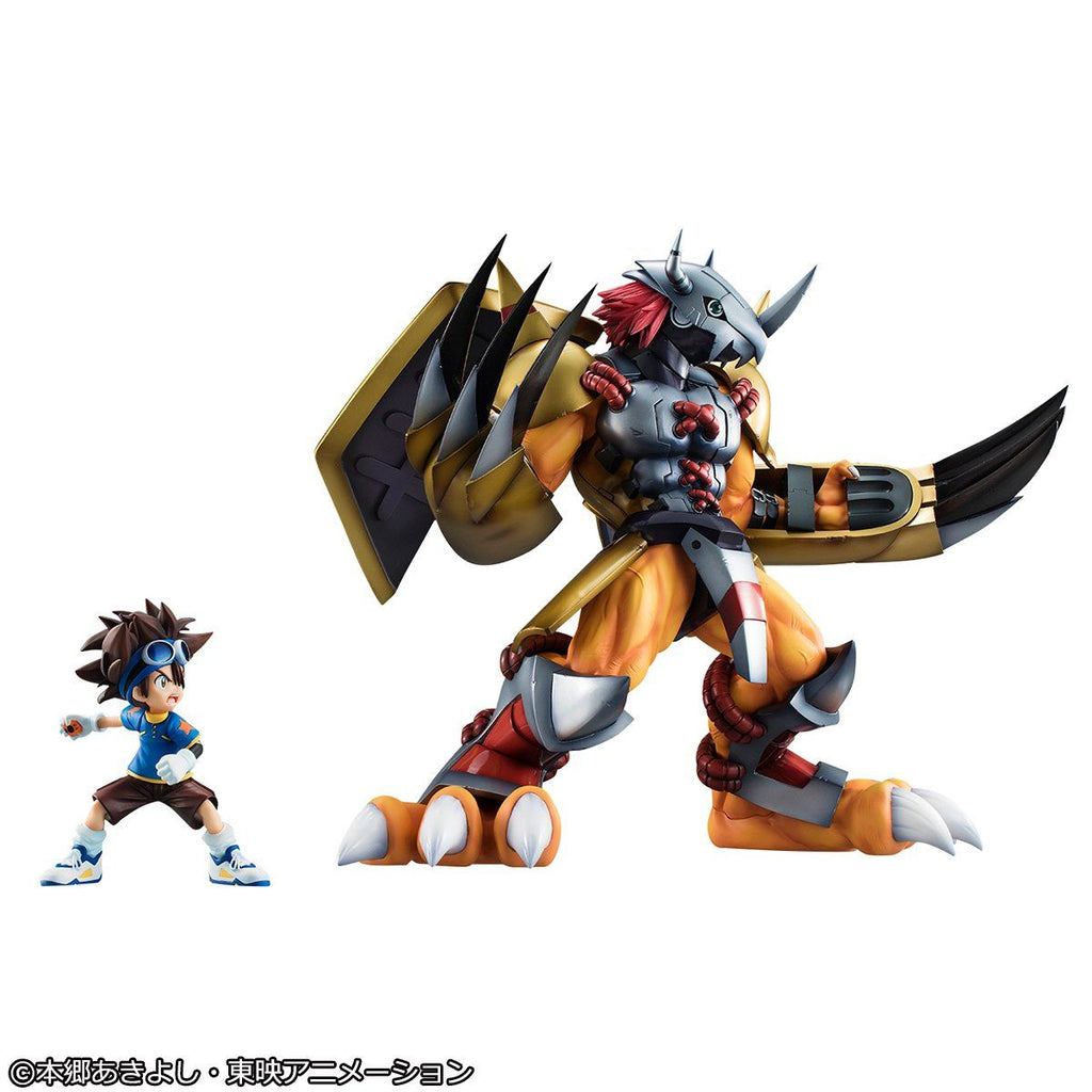 (PRE-ORDER Expected October 2021) Megahouse Digimon Adventure Precious G.E.M. Digimon Adventure Wargreymon & Yagami Taichi (repeat) Figure Statue
