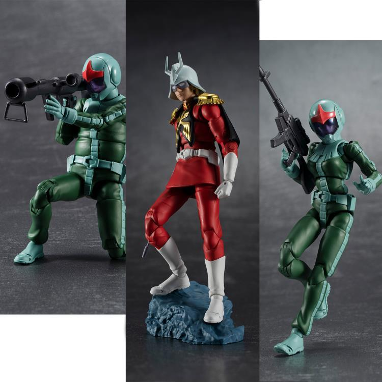(PRE-ORDER October 2021) MegaHouse G.M.G. Gundam Zeon Soldier 04-05 & Char Aznable Action Figure Set of 3