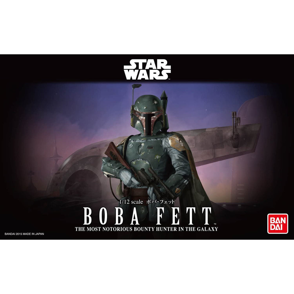Bandai Hobby Star Wars Boba Fett 1/12 Scale Action Figure Model Kit