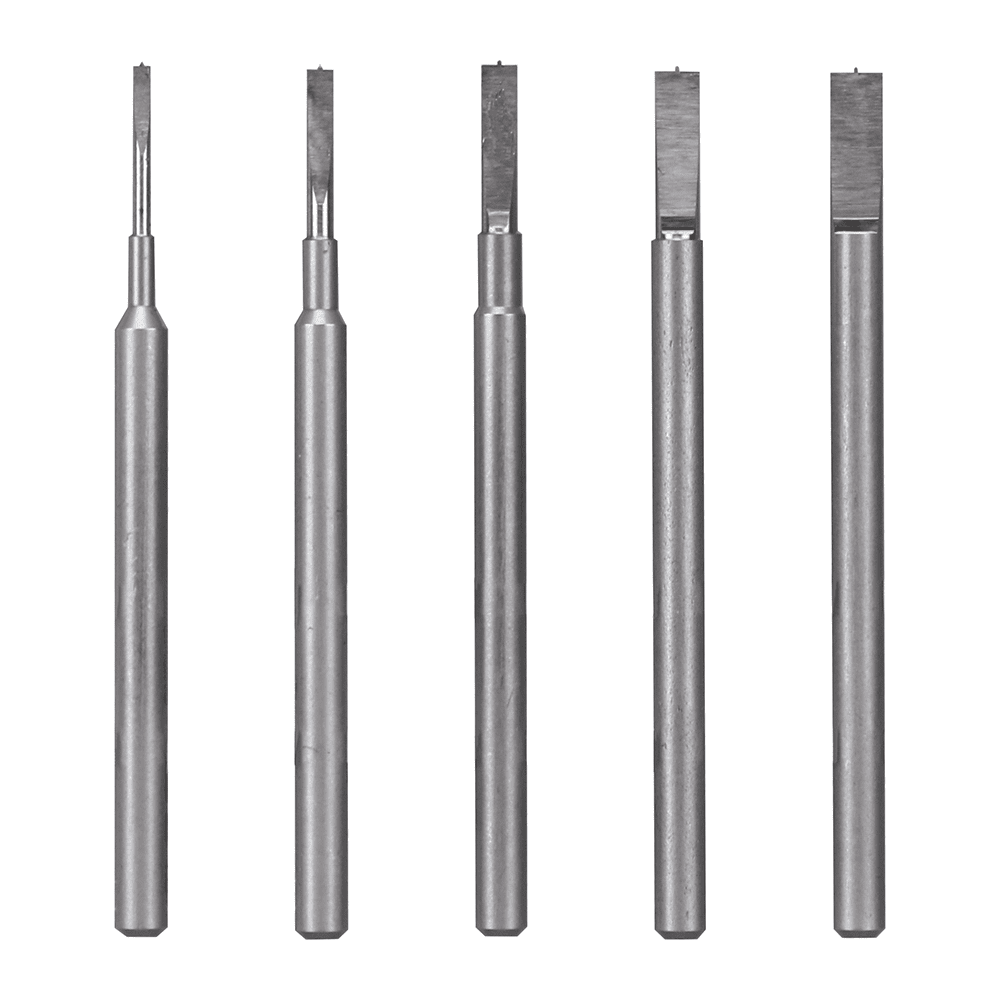 GodHand CSB-1-3 Pin Vise Spin Mold Blade Set of 5 1mm-3mm for Plastic Models