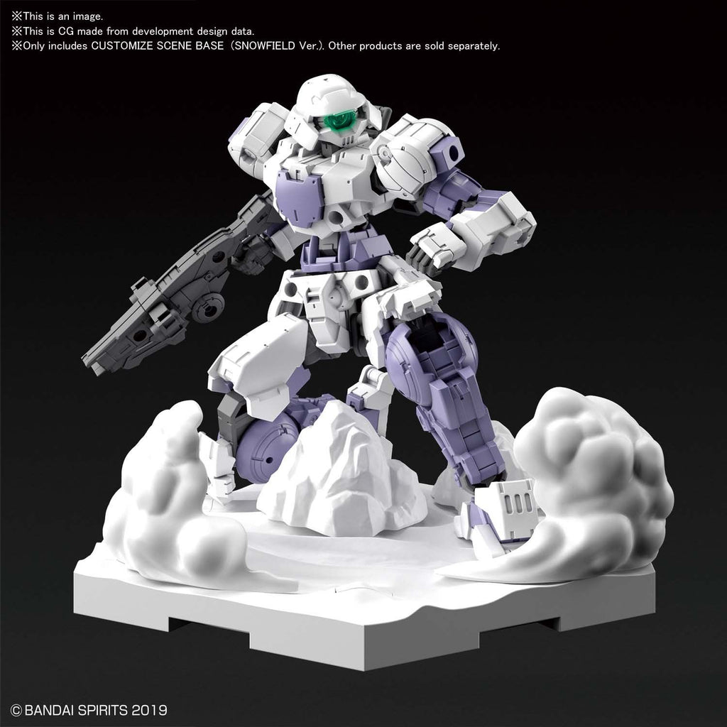 Bandai Spirits 30MM 30 Minute Missions Customize Scene Base Snowfield Ver. Model Kit