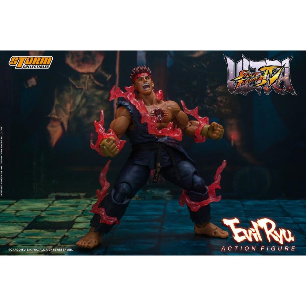 (PRE-ORDER September 2021) Storm Collectibles Ultimate Street Fighter IV Evil Ryu Action Figure