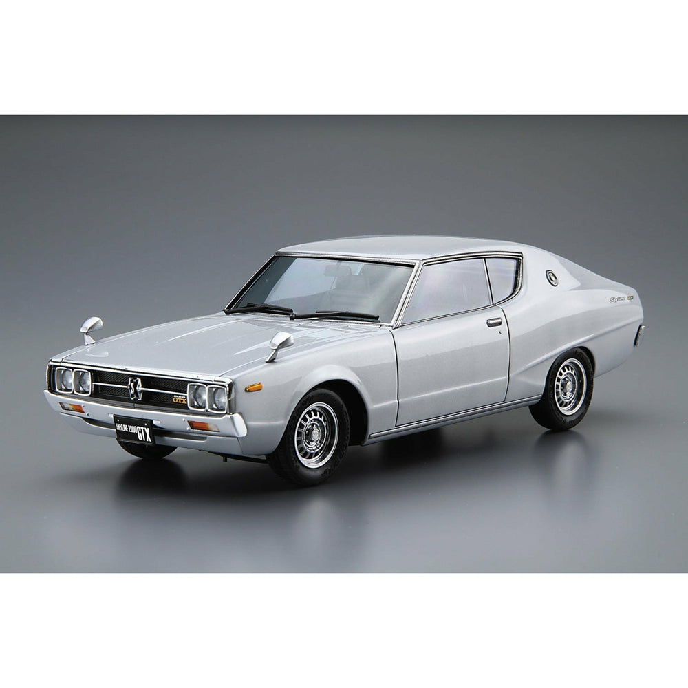 (PRE-ORDER: Expected April 2021) Aoshima Model Car #51 Nissan GC111 Skyline HT2000GTX-E - S '76 1/24 Scale Model Kit
