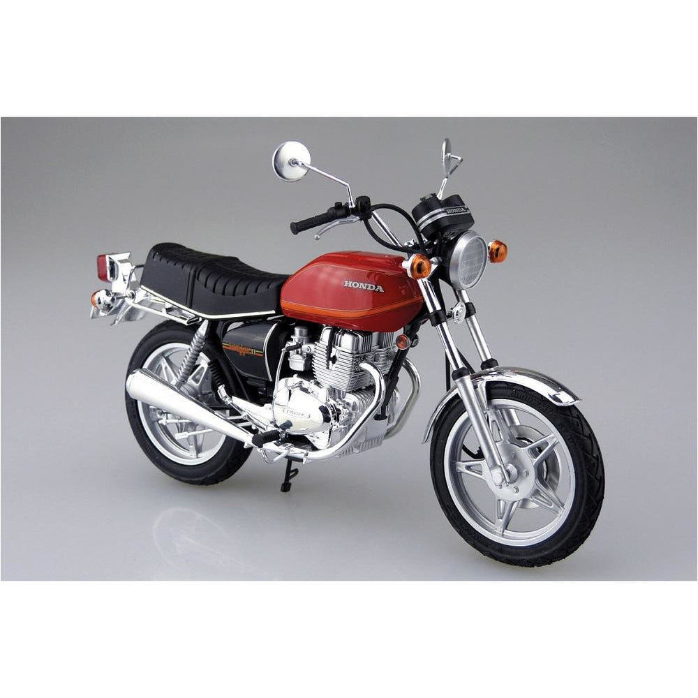 (PRE-ORDER August 2021) Aoshima 1978 Honda CB400T Hawk-II Motorcycle 1/12 Scale Model Kit