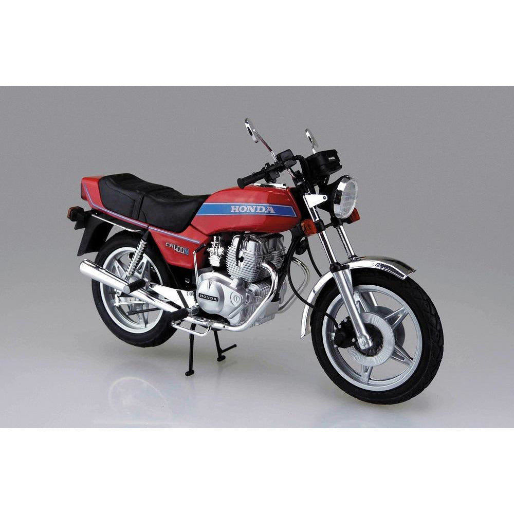 (PRE-ORDER August 2021) Aoshima 1978 Honda CB400N Hawk-III Motorcycle 1/12 Scale Model Kit