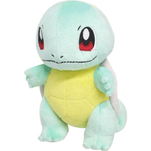 "Sanei Pokemon All Star Collection PP19 Squirtle 6"" Stuffed Plush"