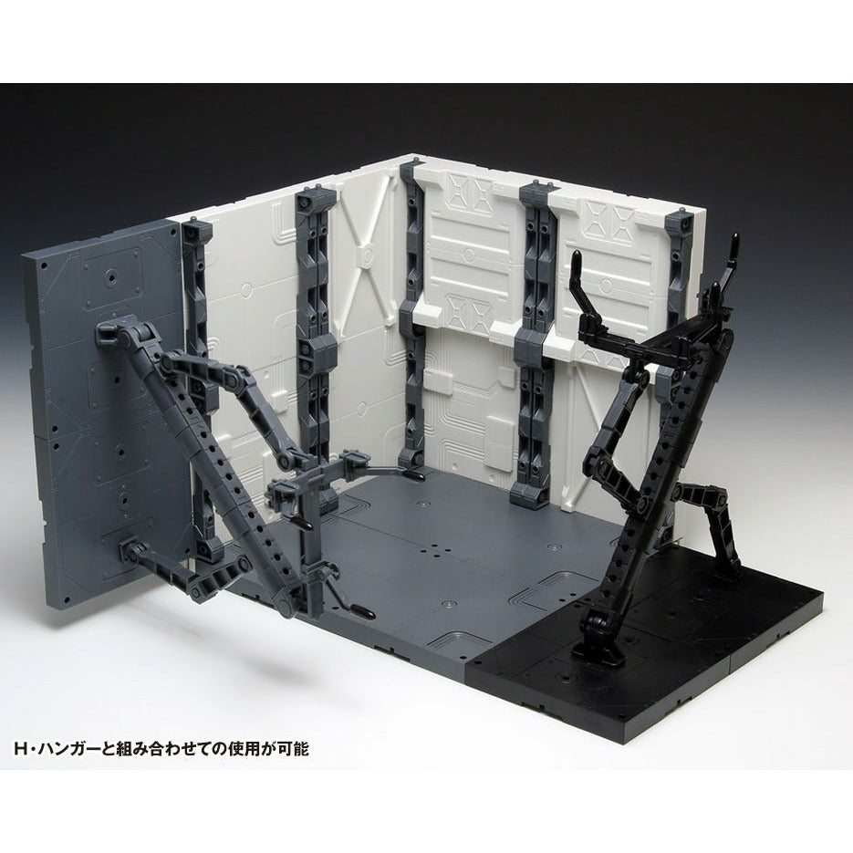 Wave Gundam / Mecha / Gunpla H Hangar Posing Arm Black Diorama Display Model Kit